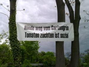 Hände weg vom Gartengrün